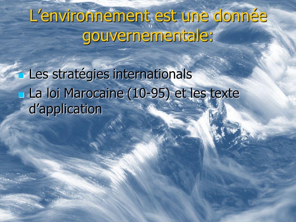 L'environnement est une donnée gouvernementale: