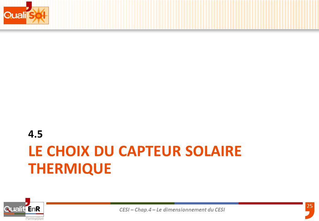 LE CHOIX DU CAPTEUR SOLAIRE THERMIQUE