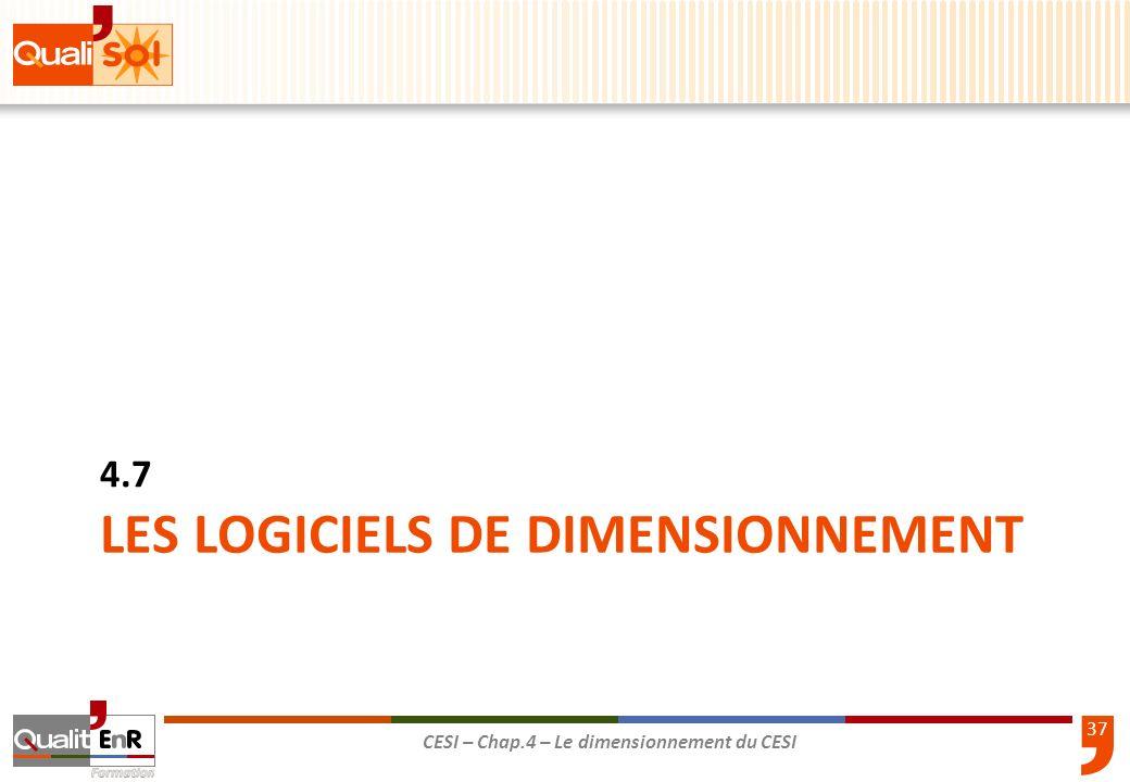 LES LOGICIELS DE DIMENSIONNEMENT