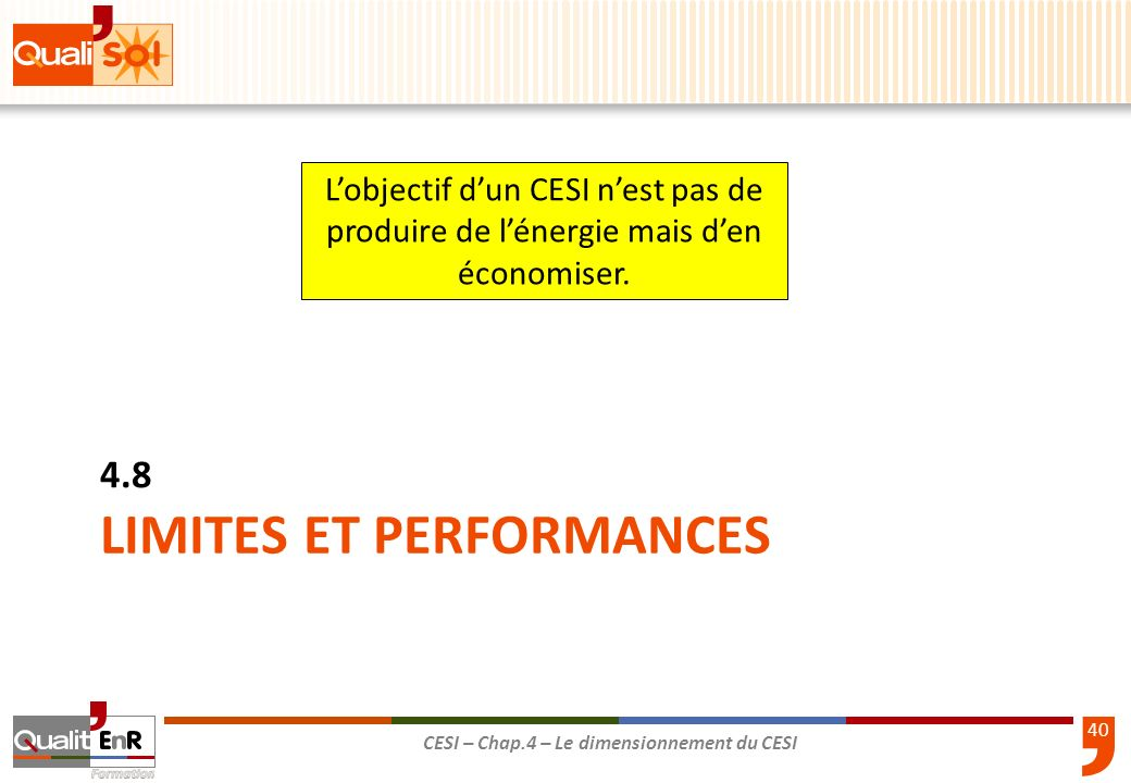 LIMITES ET PERFORMANCES
