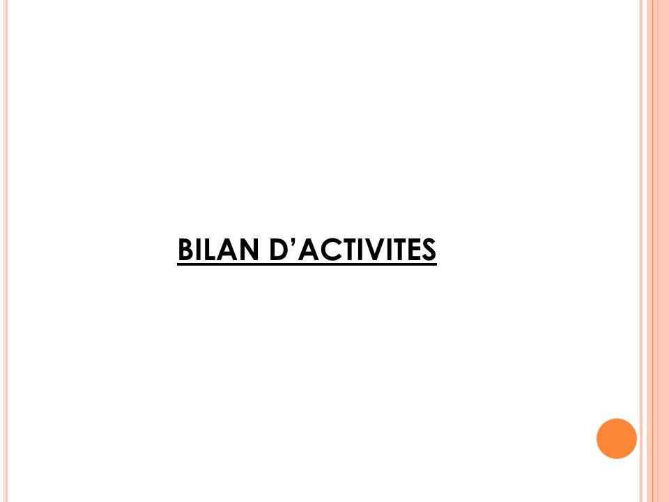 BILAN D'ACTIVITES