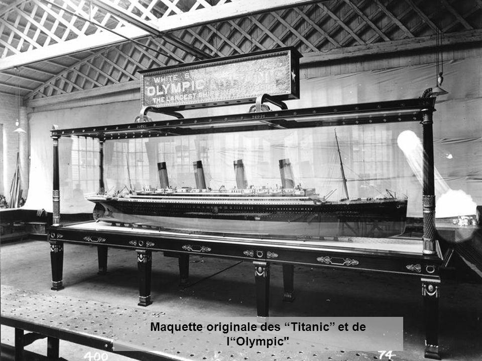 Maquette originale des Titanic et de l Olympic