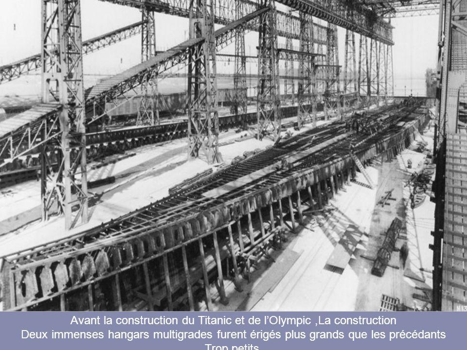 Avant la construction du Titanic et de l'Olympic ,La construction