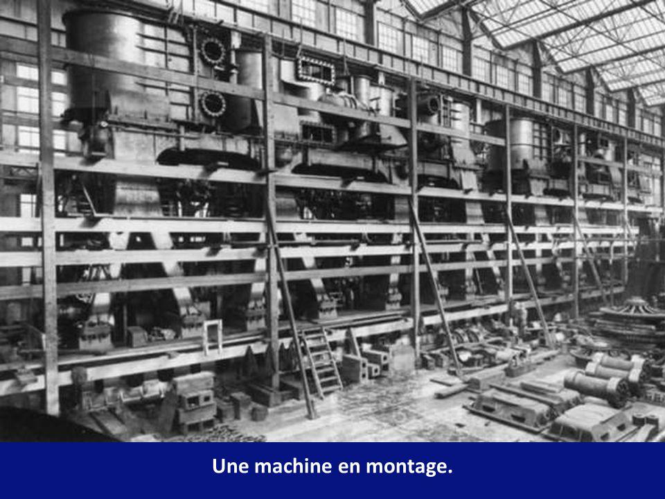 Une machine en montage.