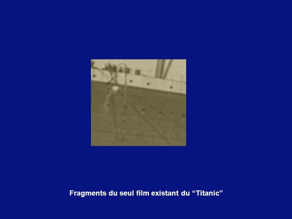 Fragments du seul film existant du Titanic