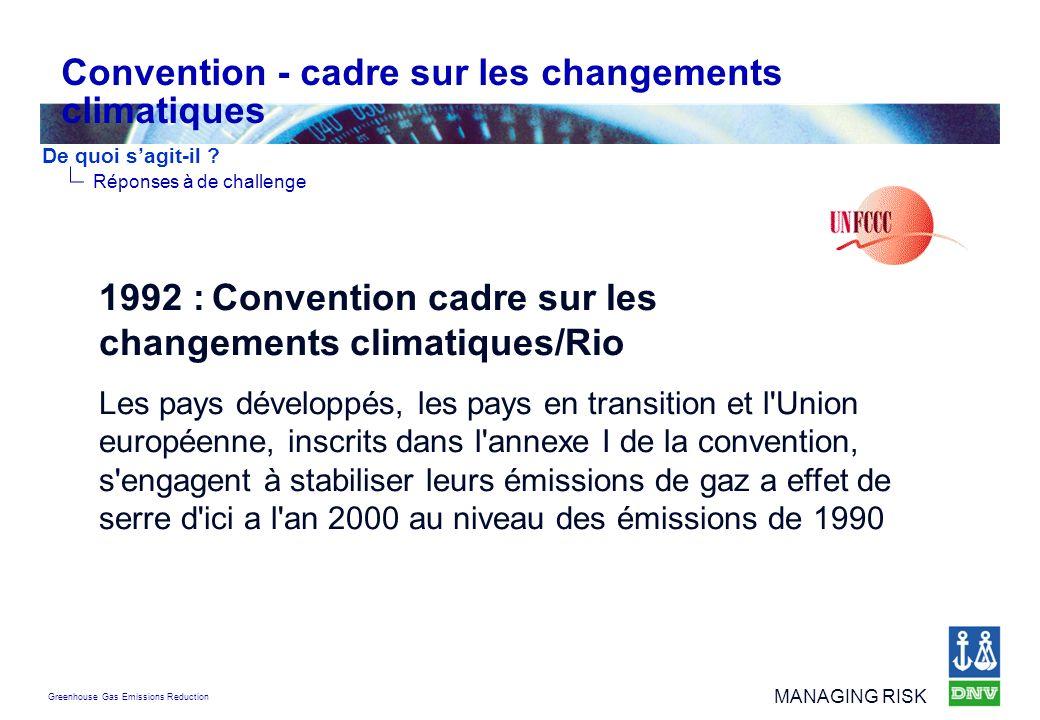Convention - cadre sur les changements climatiques