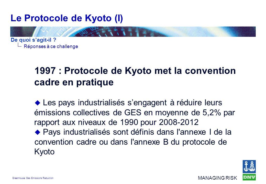 Le Protocole de Kyoto (I)