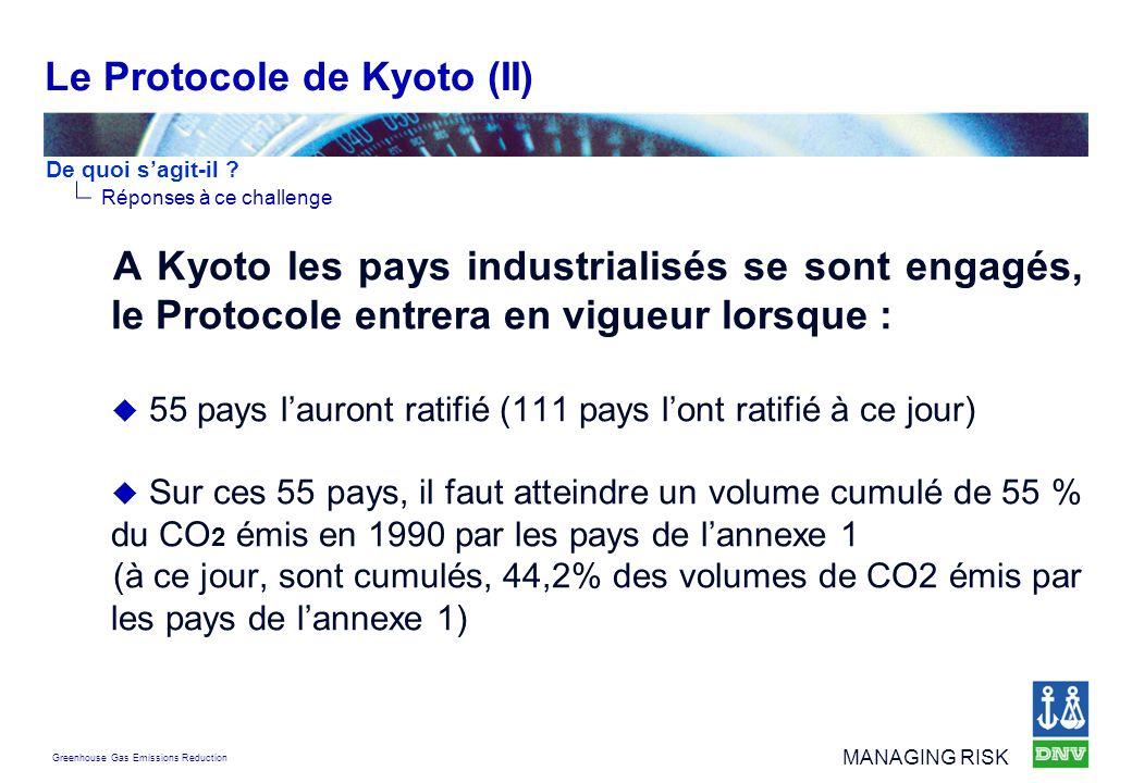 Le Protocole de Kyoto (II)