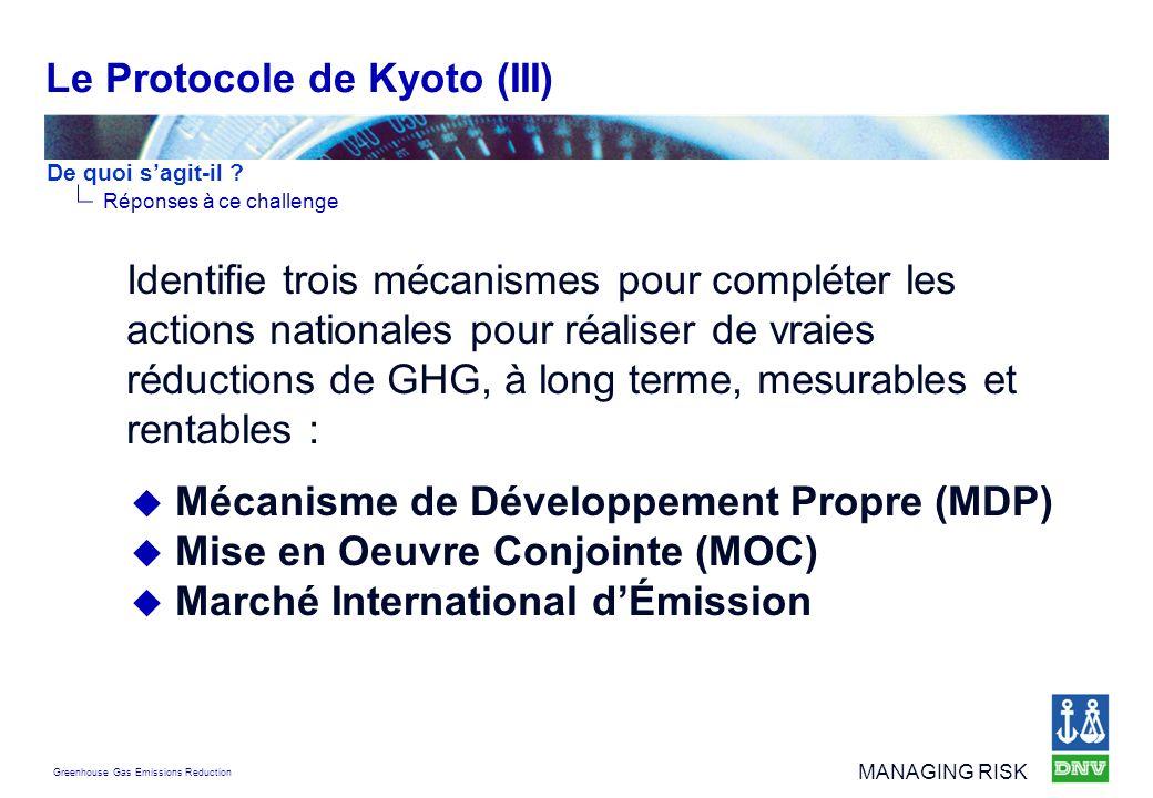 Le Protocole de Kyoto (III)