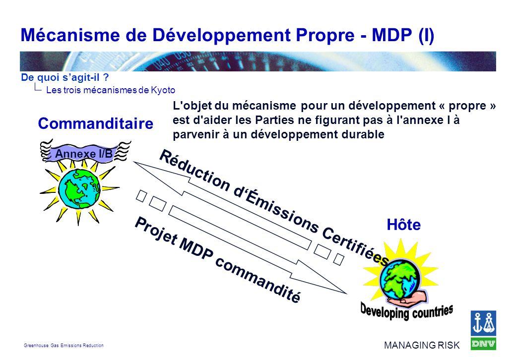 Mécanisme de Développement Propre - MDP (I)