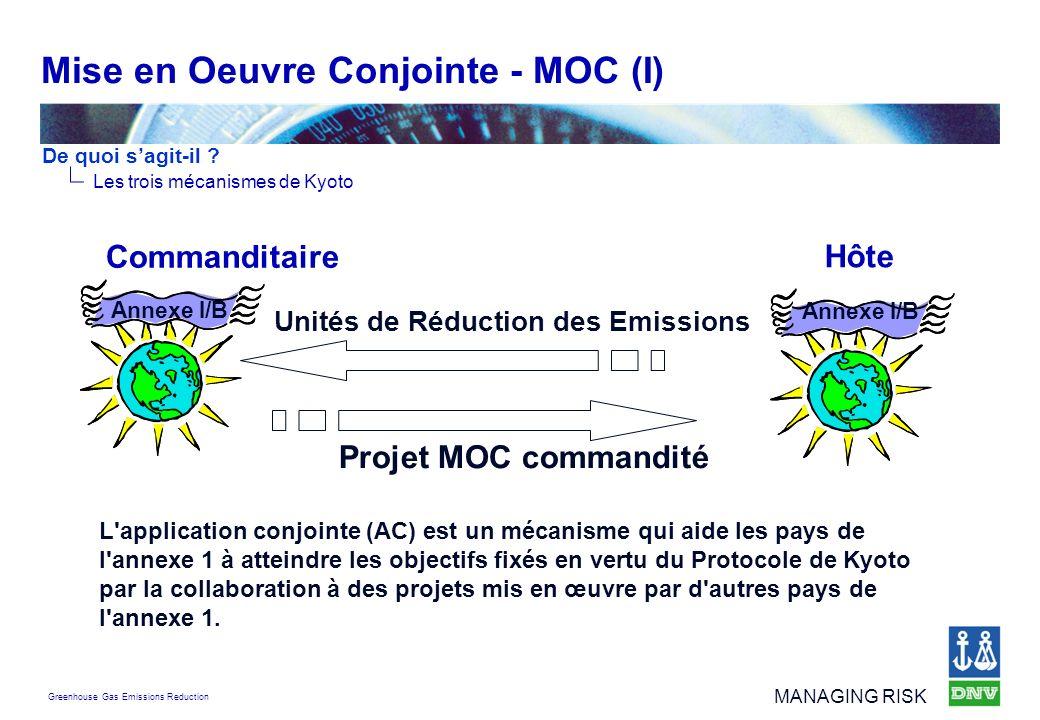 Mise en Oeuvre Conjointe - MOC (I)
