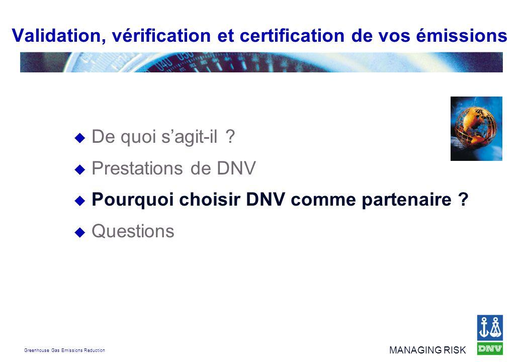 Validation, vérification et certification de vos émissions