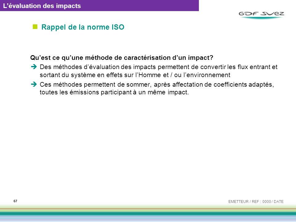 Rappel de la norme ISO L'évaluation des impacts