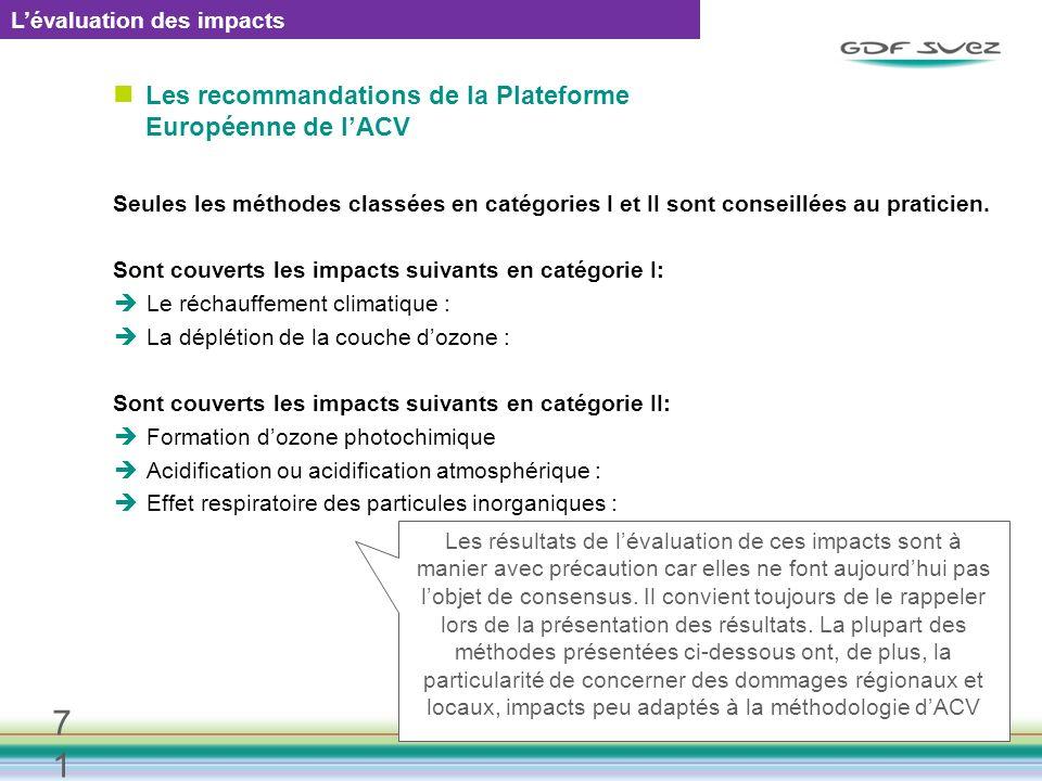 Les recommandations de la Plateforme Européenne de l'ACV