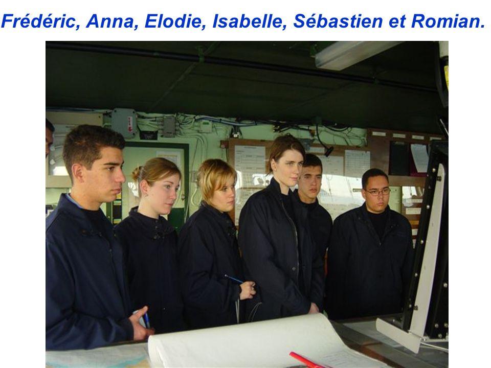 Frédéric, Anna, Elodie, Isabelle, Sébastien et Romian. Caroline