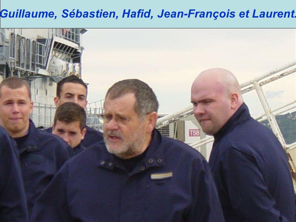Guillaume, Sébastien, Hafid, Jean-François et Laurent.