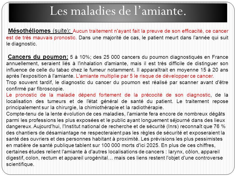 Les maladies de l'amiante.