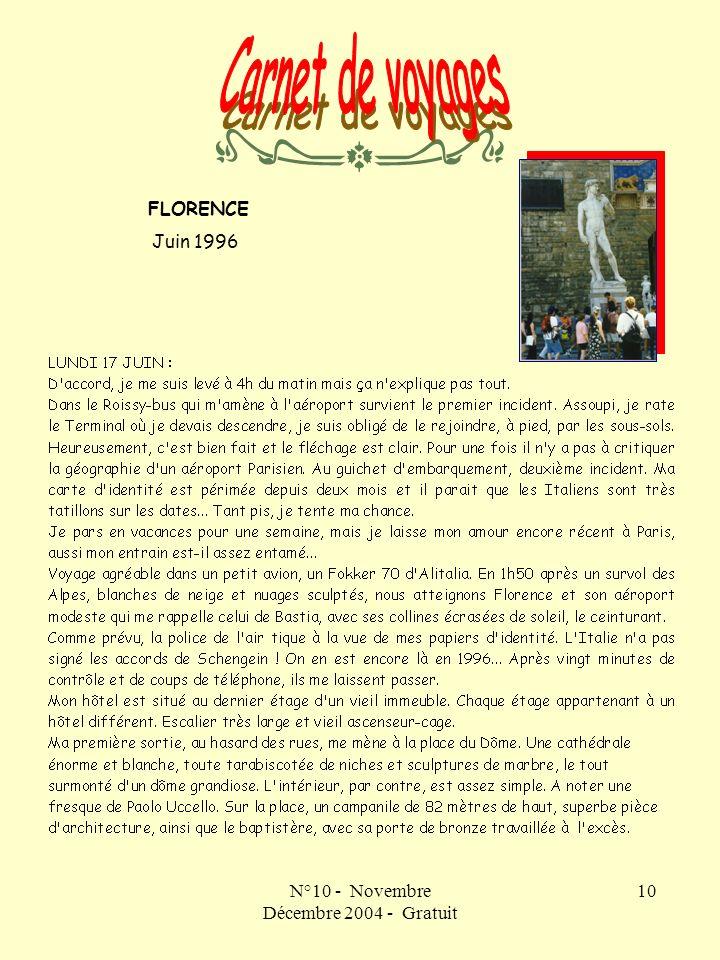 N°10 - Novembre Décembre 2004 - Gratuit