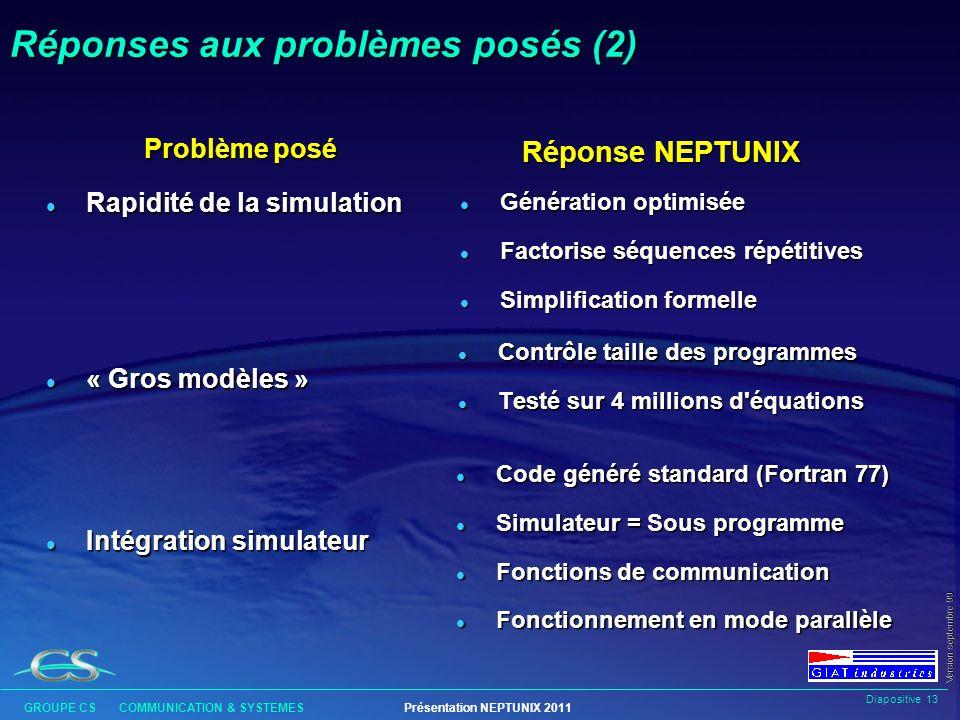 Réponses aux problèmes posés (2)