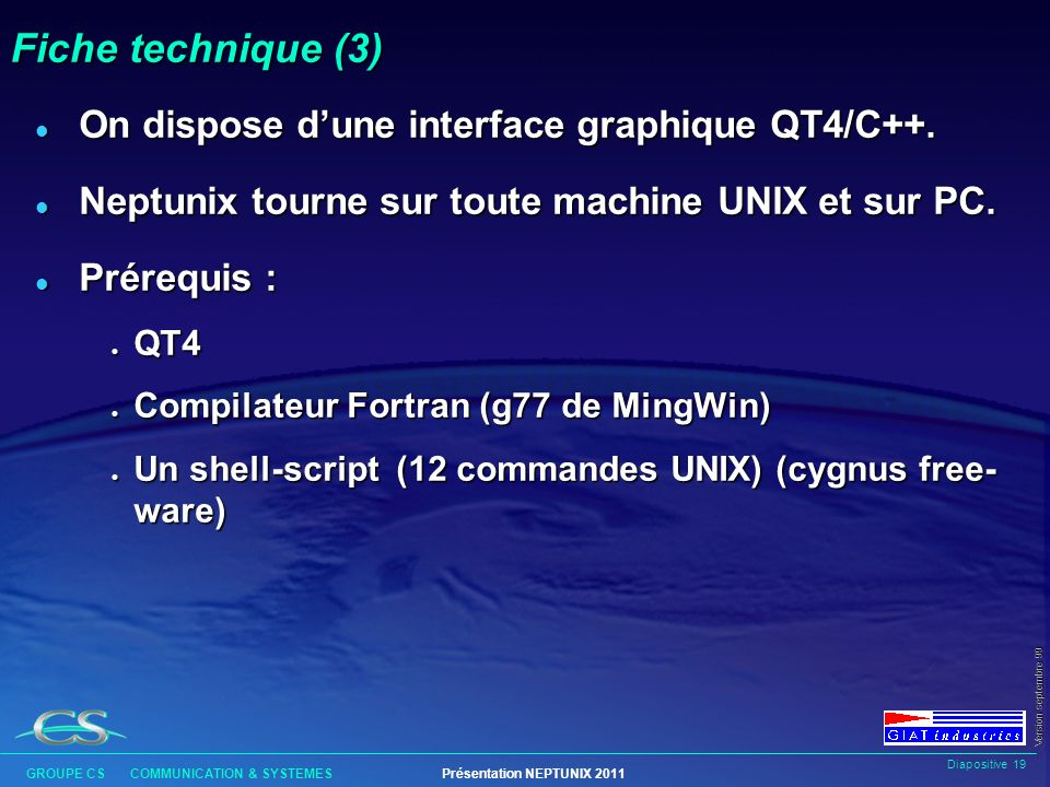 Fiche technique (3) On dispose d'une interface graphique QT4/C++.