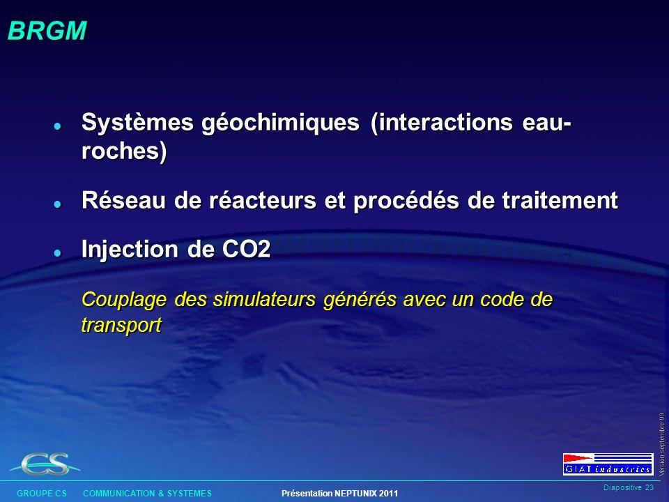 BRGM Systèmes géochimiques (interactions eau- roches)