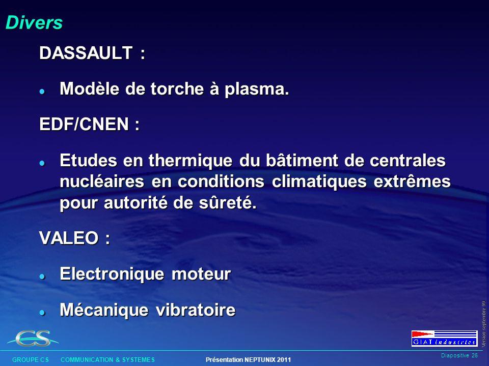 Divers DASSAULT : Modèle de torche à plasma. EDF/CNEN :