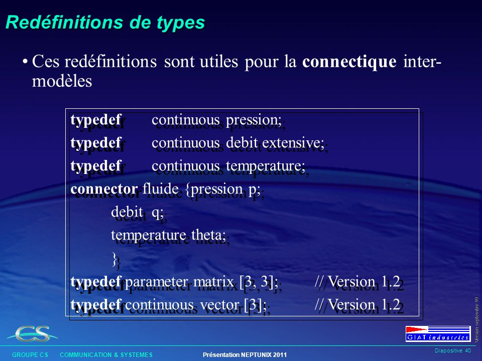 Redéfinitions de types