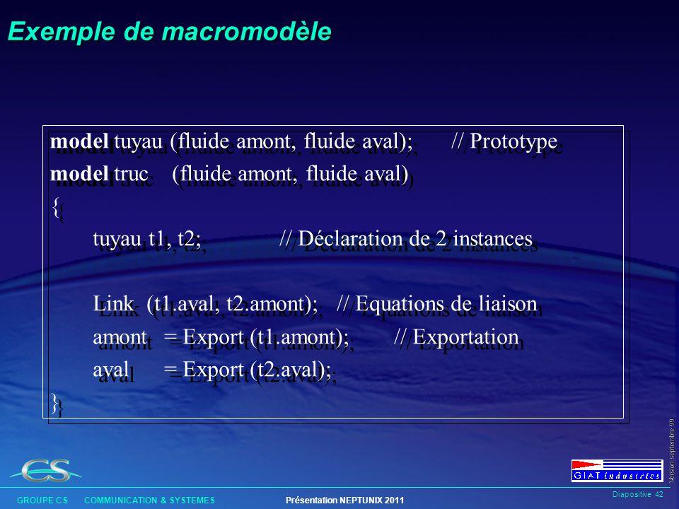 Exemple de macromodèle