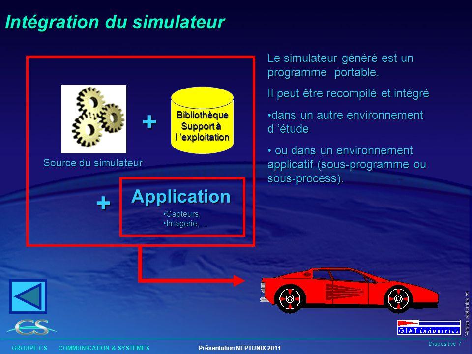 Intégration du simulateur