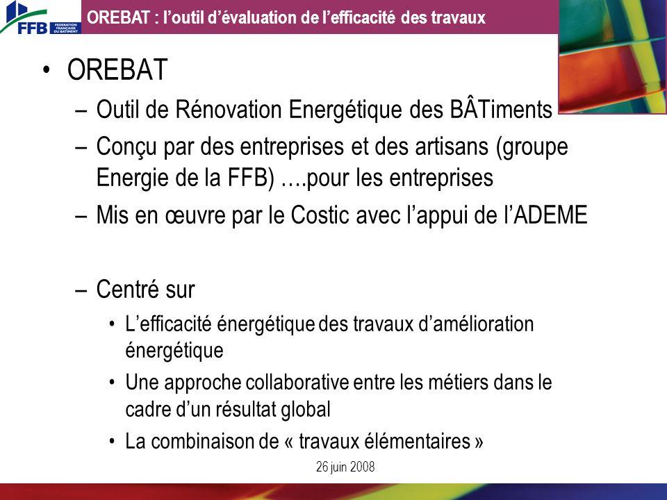 OREBAT Outil de Rénovation Energétique des BÂTiments