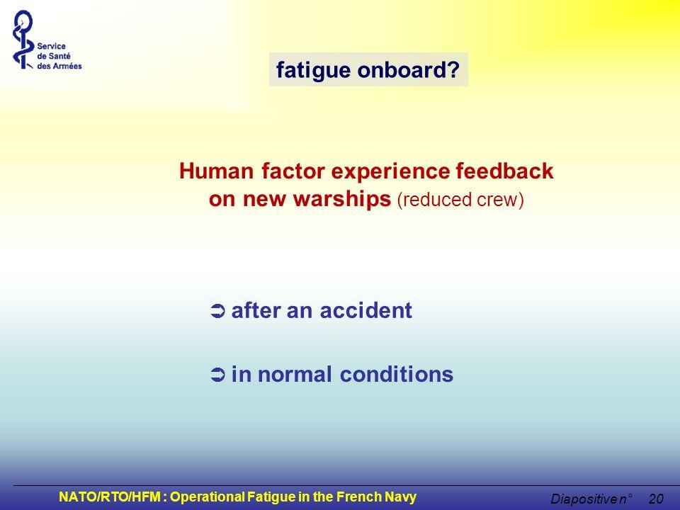 Human factor experience feedback