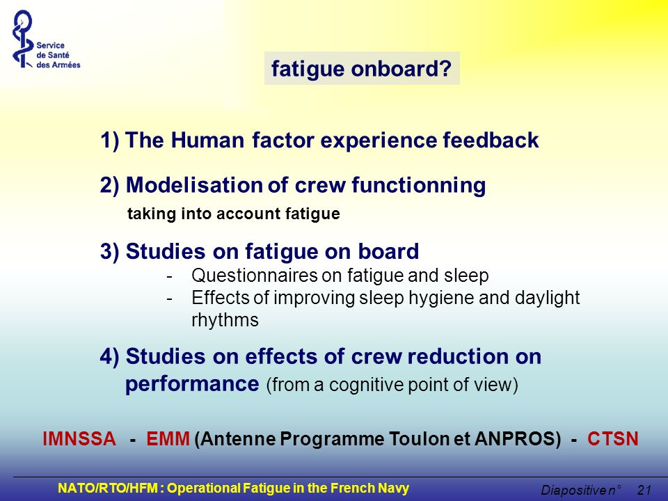 The Human factor experience feedback