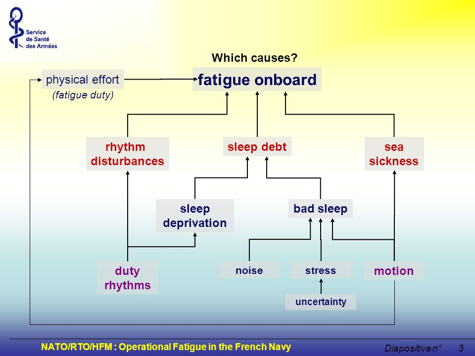 fatigue onboard Which causes physical effort rhythm disturbances sea
