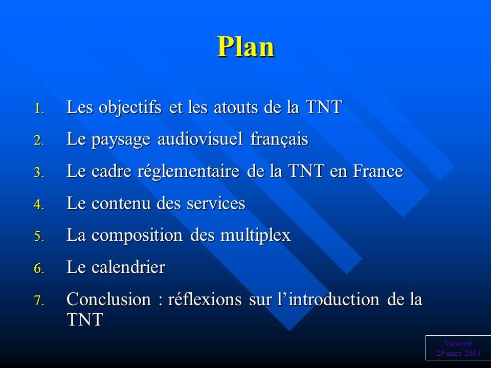 Plan Les objectifs et les atouts de la TNT