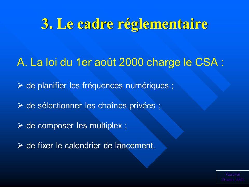 3. Le cadre réglementaire