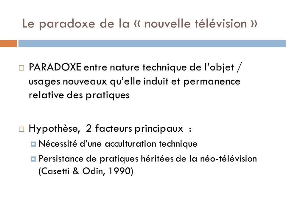 Le paradoxe de la « nouvelle télévision »