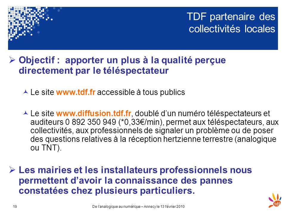 TDF partenaire des collectivités locales