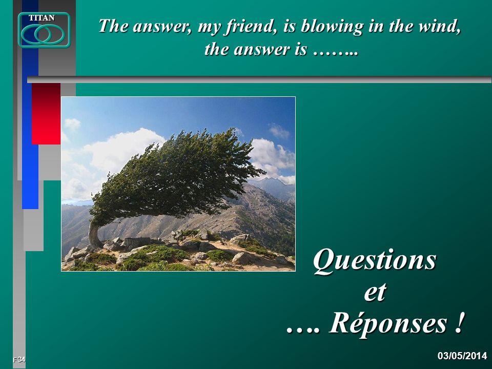 Questions et …. Réponses !