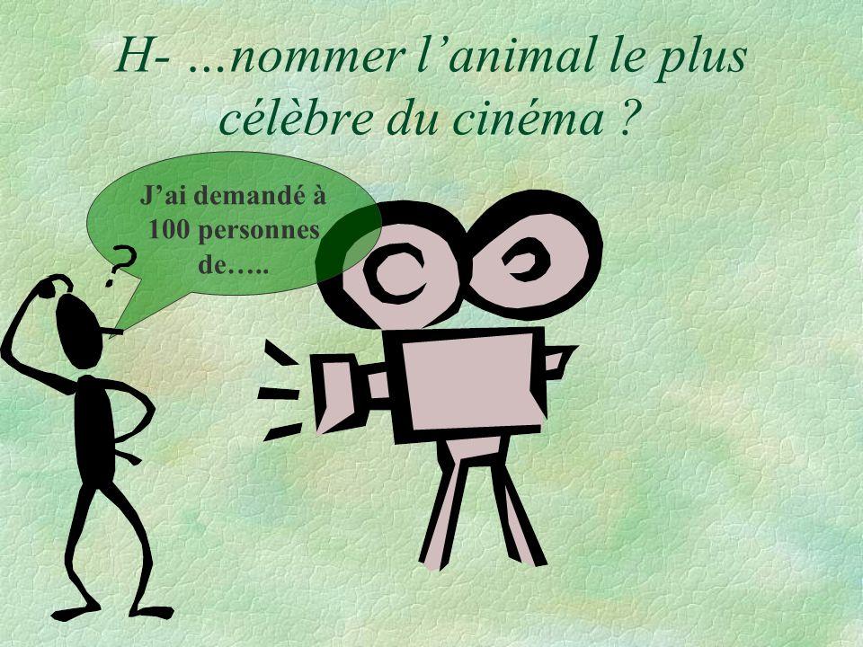 H- …nommer l'animal le plus célèbre du cinéma