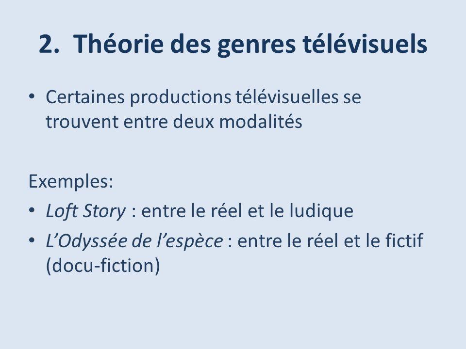 2. Théorie des genres télévisuels
