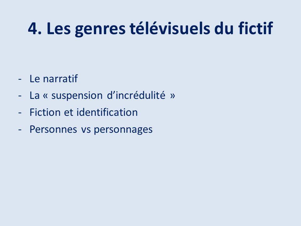 4. Les genres télévisuels du fictif