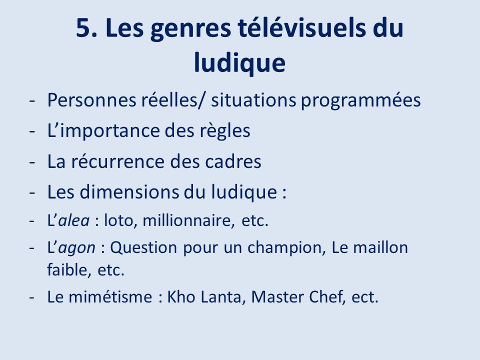 5. Les genres télévisuels du ludique