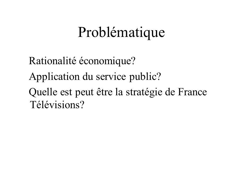 Problématique Rationalité économique Application du service public
