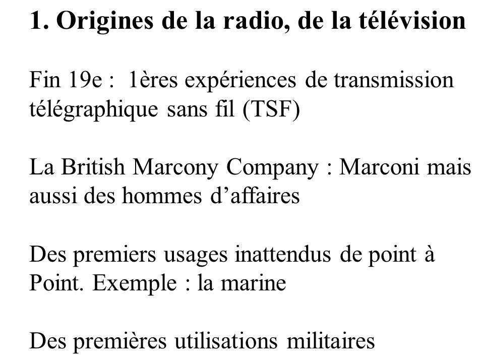 1. Origines de la radio, de la télévision