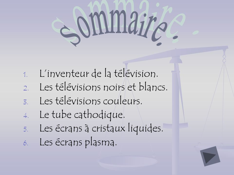 Sommaire: L'inventeur de la télévision.