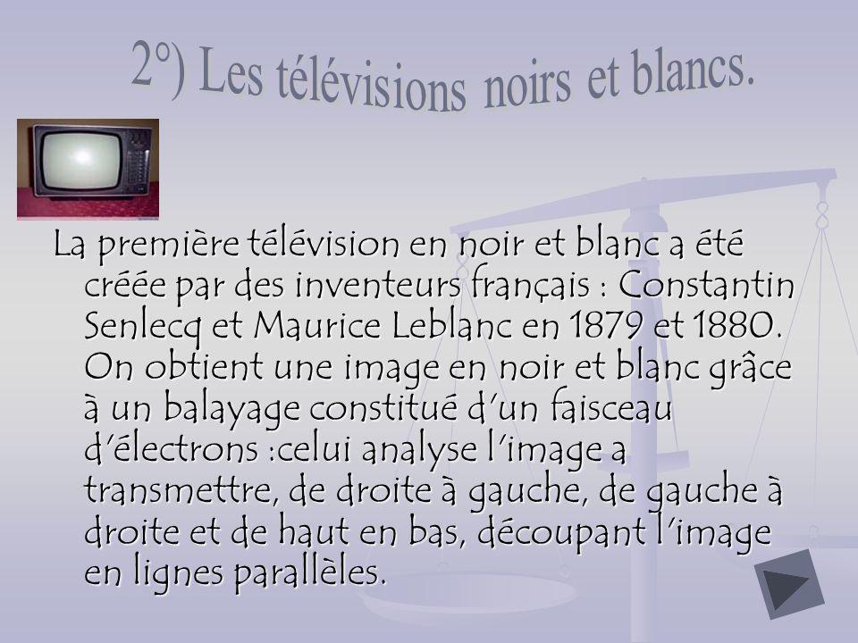 2°) Les télévisions noirs et blancs.