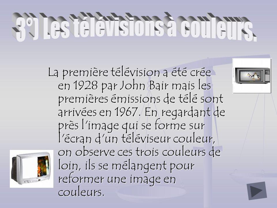 3°) Les télévisions à couleurs.