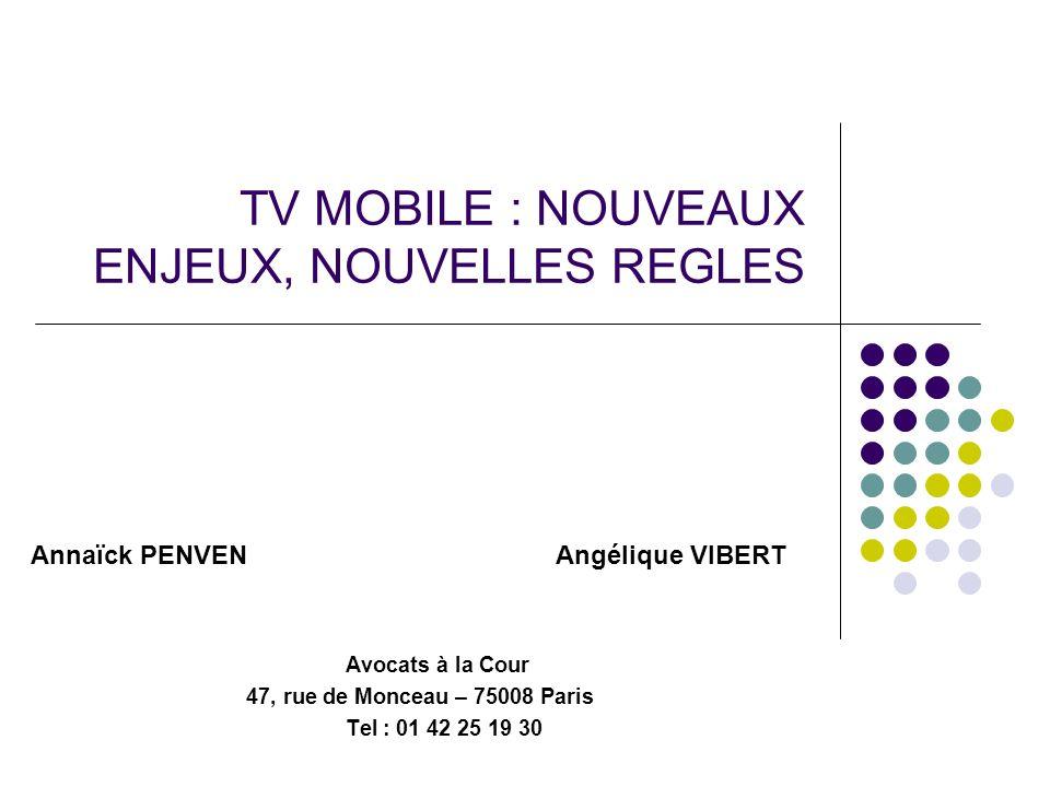 TV MOBILE : NOUVEAUX ENJEUX, NOUVELLES REGLES
