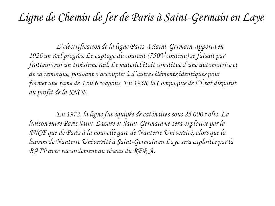Ligne de Chemin de fer de Paris à Saint-Germain en Laye