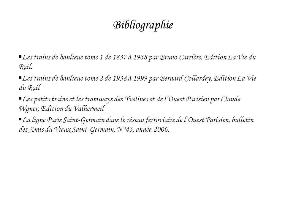 BibliographieLes trains de banlieue tome 1 de 1837 à 1938 par Bruno Carrière, Edition La Vie du Rail.